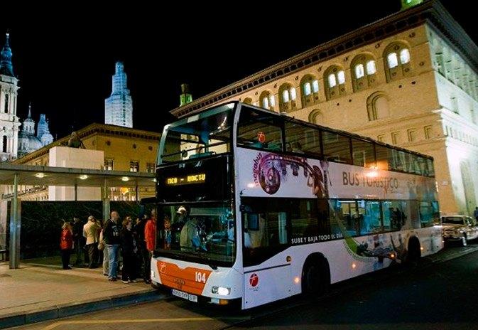 Bus turístico nocturno Zaragoza